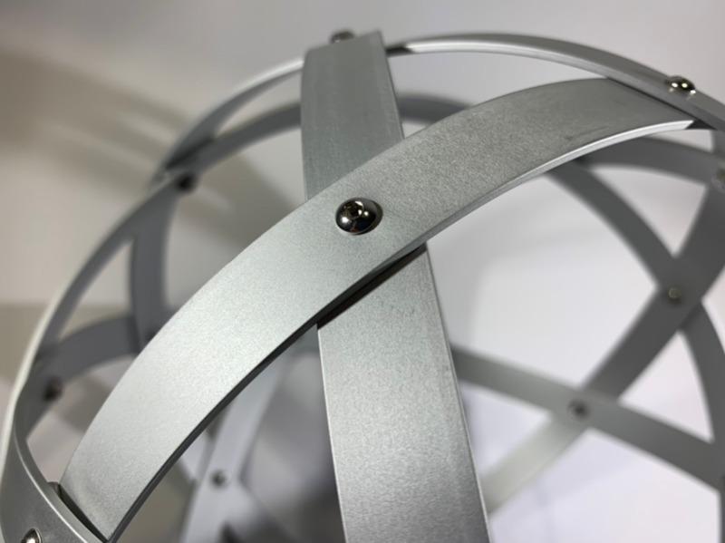 pentasfera-21-cm-alluminio-satinato-argento-profilo-1-5-cm