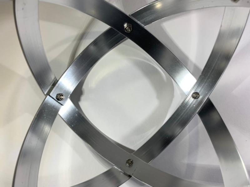 genesa-16-cm-alluminio-lucido-brillante-argento-profilo-1-5-cm