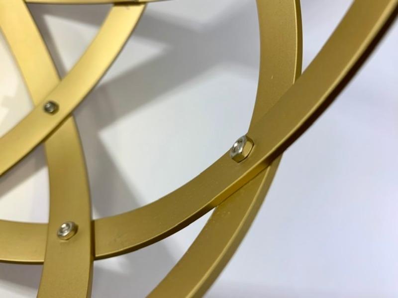 pentasfera-21-cm-alluminio-satinato-oro-profilo-1-5-cm
