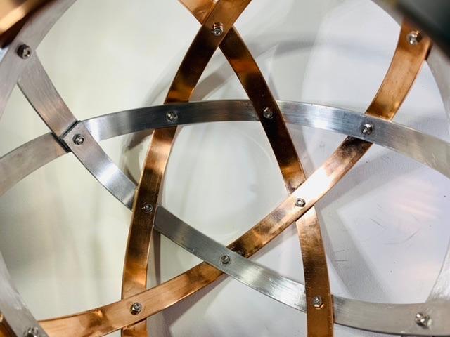 pentasfera-21-cm-alluminio-naturale-e-rame-profilo-1-5-cm